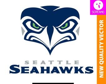 seahawks silhouette etsy rh etsy com