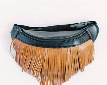 Leather fanny pack for women with brown straps leather belt bag leather pouch travel fanny pack Festival Bum Bag Hipster bag