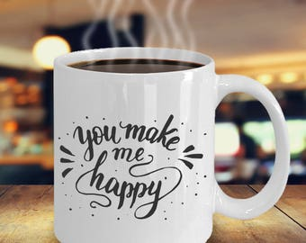 Valentines Day Gift For New Girlfriend, New Boyfriend, Valentine Mug, You  Make Me