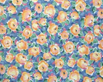 Floral Cotton Fabric, Fabric By the Yard, Quilting Fabric, Apparel Fabric, Floral Print Fabric