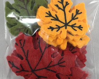 Felt Decorations - Thanksgiving - 19 Count