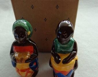 1996 Avon African Village Salt & Pepper Shakers