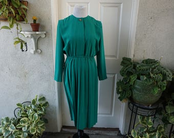 Vintage Pleated Secretary Dress