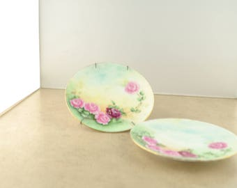 Silesia Pink Rose Small Plates - Set of 2