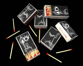 MATCHES - box printed by hand