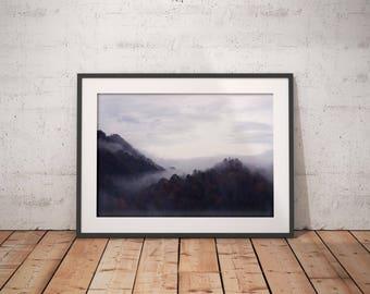landscape prints , nature wall art , nature photography , scandinavian art , landscape wall art , foggy forest