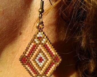 Earrings weaved brick stitch Miyuki IDEAL Christmas gift