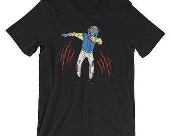 Dabbing Zombie Shirt Funny Halloween Zombie Costume UNISEX T-Shirt
