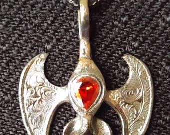Sterling silver bat pendant - pendentif chauve-souris en argent sterling