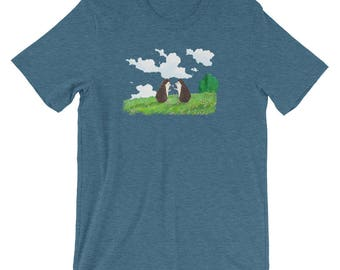 Sweet Hedgehog Flower In Field Shirt Short-Sleeve Unisex T-Shirt of Happiness