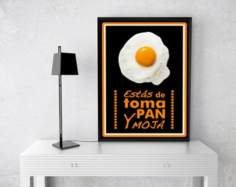 """You are taking pan and Moja """"original illustration, art home decor, decorative poster, affiche, poster wall, watercolor print, inkjet art, modern, gift"""