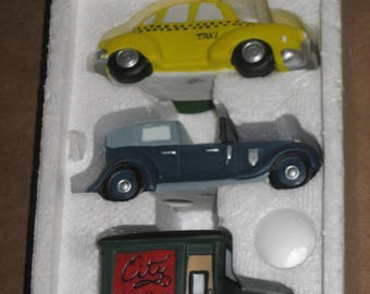 "Dept 56 Heritage Village Collection ""Automobiles""  set of 3  [6481bt]"