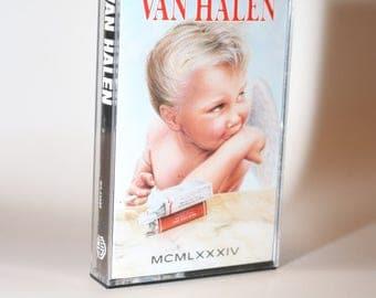 VAN HALEN (1984) Cassette Tape 1980s Mullet David Lee Roth Eddie Wolfgang Mark Stone Michael Anthony Sammy Hagar Gary Cherone