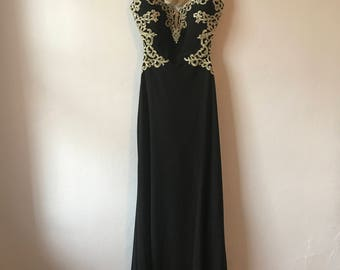 black formal dress etsy