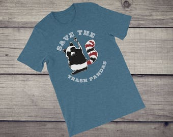 Save the trash pandas T-Shirt cute funny raccoon animal tee tshirt gift for her funny sayings tee Short-Sleeve Men's Women's Unisex T-Shirt