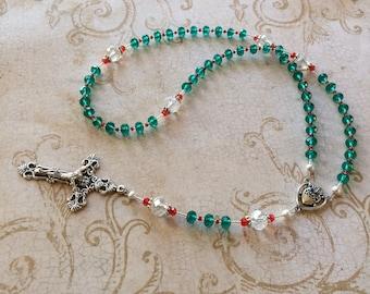 Christmas Rosary, Christmas Divine Mercy Chaplet, Children's Rosary, Stocking Stuffer, Catholic Gifts.