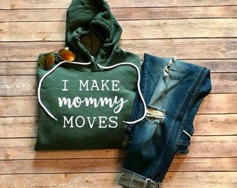 I Make Mommy Moves Cardi B Bodak Yellow Funny Womens Rap Lyric Hoodie