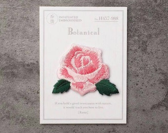 tiny gorgeous pink rose patch/iron on patch/flower patch/embroidered /patch for vans/diy/applique