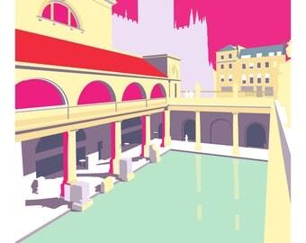 The Roman Baths, Bath UK - Print