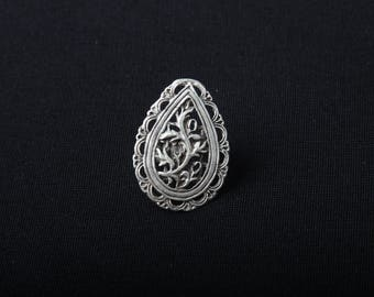 New Ottoman Style Silver Ring