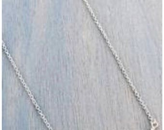 Silvertone Curved Bar Necklace