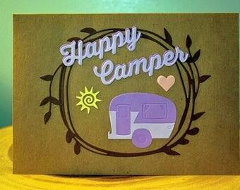 Happy Camper Handmade Greeting Card