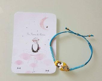 Bracelet Pearl and ceramic figurine