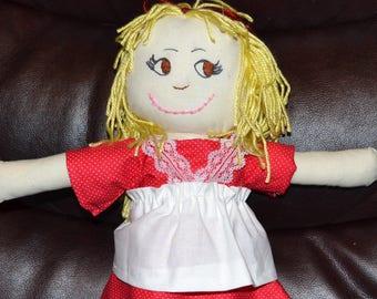 "Blonde Handmade Doll 15"""