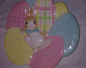 "Fitz and Floyd Essentials ""A Good Egg"" Decorative Bunny Plate"