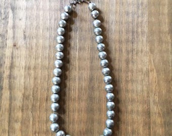 Sterling Silver Metal bead Necklace