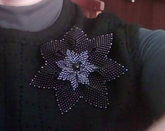 Christmas rose brooch
