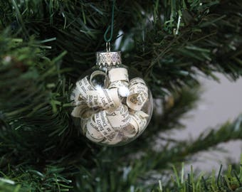 Jane Eyre Christmas Ornament / Handmade Book Decoration