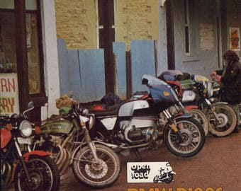 BMW R100S 1980 Magazine article. 7 page motorcycle article taken from Australian magazine.