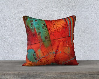 Red Abstract Pillow Cover