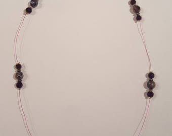 Purple Floating Bead Necklace