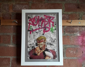 Joker Collage with white A4 frame