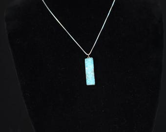 """18"""" Blue and Silver Crystal Necklace"""