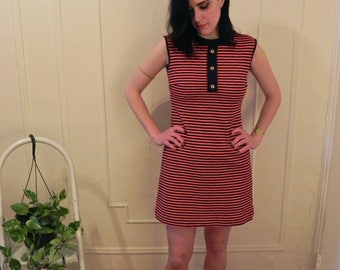 1960's Striped Twiggy Dress