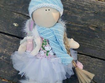 Tilda Doll Handmade Fabric doll Tilda doll Bunny Christmas gift Home decor Collectible doll Interior doll Bunny doll Tilda doll bunny OOAK