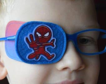 Eye patch for kids - Treatment of lazy eye - Amblyopia treatment - Eye patch with heroes - Boys eye patch