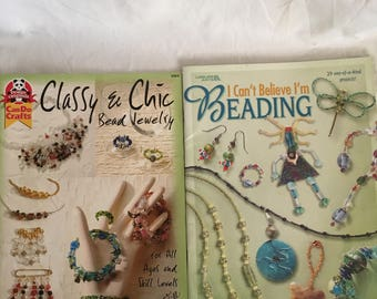 beading, can do crafts, 2 books