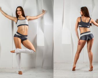 Pole Dance Top & Shorts 2pc VIA FIT for Pole Dance | Gym | Yoga | Fitness | Dance | Booty | Sportswear | Activewear | Outfit | Twerk