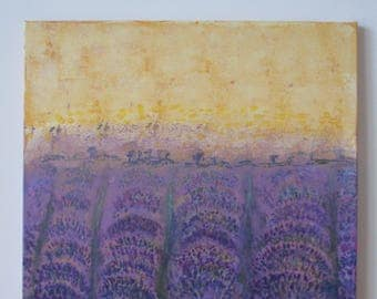 Lavender Fields Provence (large square acrylic)