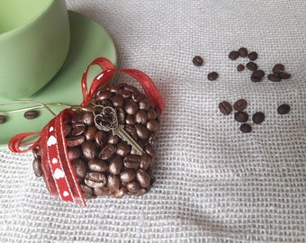 Sale valentines heart, Valentines day decor, Hanging heart, Valentines vintage decor, Valentines Day gift, heart decoration, coffee gift