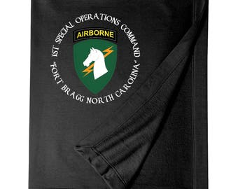 1st Special Operations Command Embroidered Blanket-6843