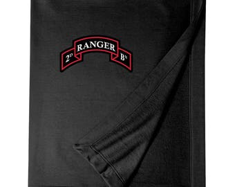 2/75th Ranger Battalion Embroidered Blanket-3310