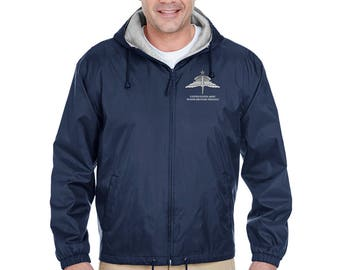 US Army Senior HALO Embroidered Fleece-Lined Hooded Jacket-7810