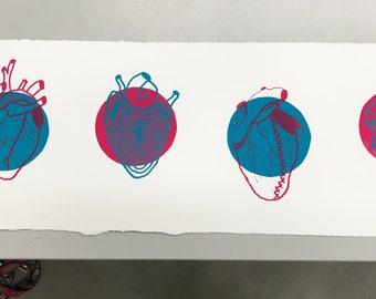 Anatomical Heart Screenprint