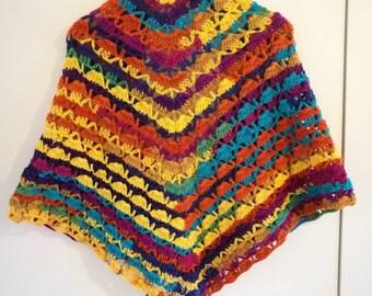 """Glittery multicolor shawl """"was""""."""