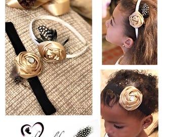 Featherly Love- Girl/Toddler/Baby Headband